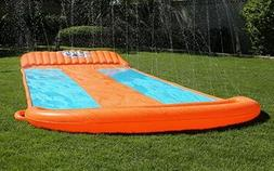 inflatable water slide triple pool kids park