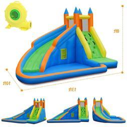 Inflatable Water Slide Triple Pool Kids Park Backyard Play F
