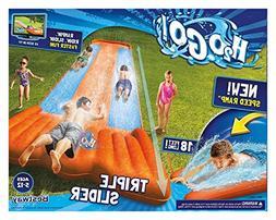inflatable water slide triple pool