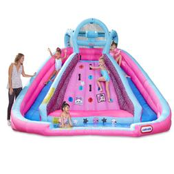 Inflatable Water Slide Wet / Dry Climbing Wall Combo Double