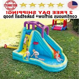 inflatable water Slide with basketball hoop BEST continuous