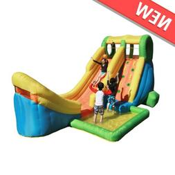 Inflatable Water Slide with Basketball Hoop for Kids