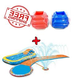 Inflatable Water Slides Splash Park 3-in-1 + BUMP N' BOUNCE