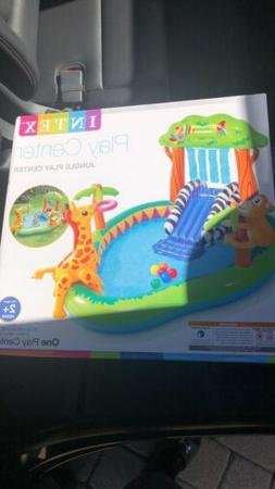 Intex Jungle Inflatable Swimming Pool Play Center New Free S