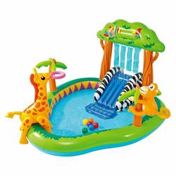 Intex Jungle Inflatable Swimming Pool Play Center Slide Spra