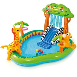 Intex Jungle Inflatable Swimming Pool Play Center Slide Spra