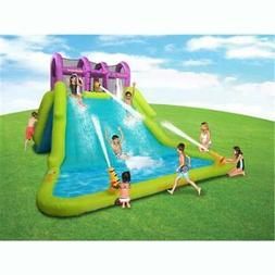 Kahuna Mega Blast Inflatable Backyard Kiddie Pool and Slide