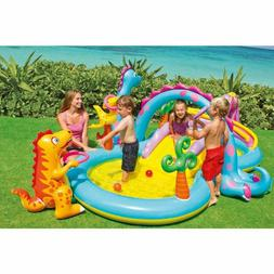 Kiddie Pool Inflatable Backyard Water Park Diy Splash Pad Wa