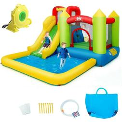 Kiddie Pool Safety Inflatable Bounce House Kids Castle Water