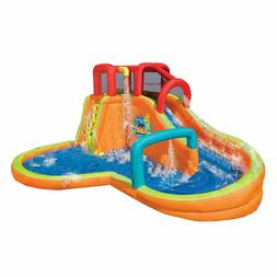 Banzai Kids Inflatable Outdoor Lazy River Adventure Water Pa