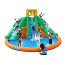 Kids Inflatable Water Park Splash And Climb Pool Outdoor Bac