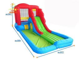 Kids Inflatable Water Slide Big Pool Bounce House Jumper Bou