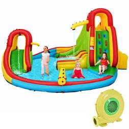 Kids Inflatable Water Slide Bounce Park Splash Pool w/Water