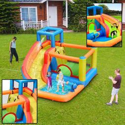 kids outdoor inflatable water slide pool jumping