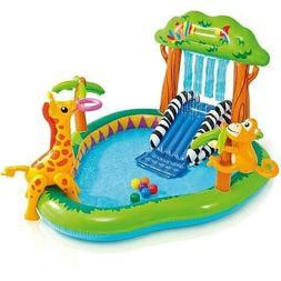 Kids Outdoor Water Slide & Sprayer Play Center Lawn Inflatab