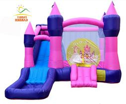 Princess Commercial Inflatable Big Water Slide Bounce House