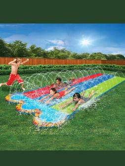 Banzai Kids Triple Racer Water Slide- 16 feet long