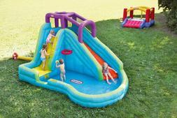 Kids Water Slide Inflatable Kiddie Pool Set Water Park Backy