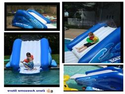 Intex Kool Splash Inflatable Swimming Pool Water Slide + Qui