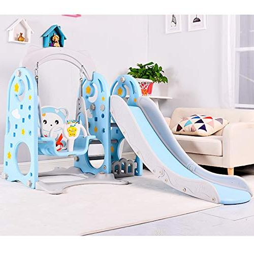 TINTON 1 Set of Slide Hoop Indoor Backyard Slide Playground Blue