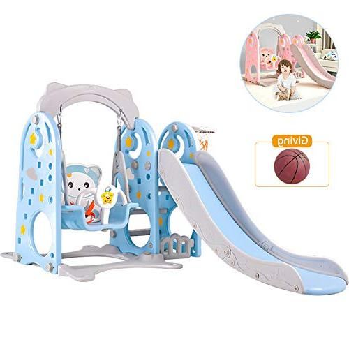 1 climber swing set combination