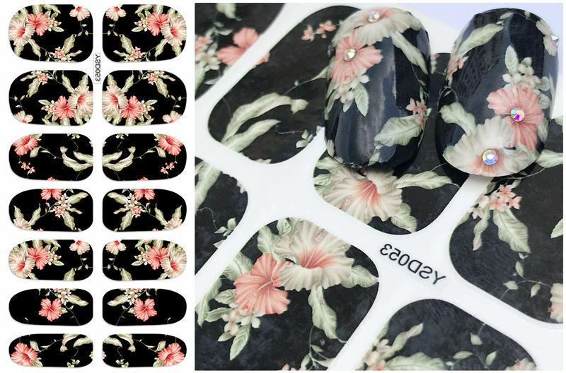 1 Sheet Tips Nail Decal Stickers