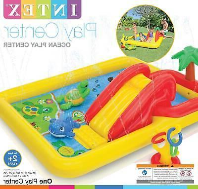 """Intex 100"""" Inflatable Center Kids Backyard &"""