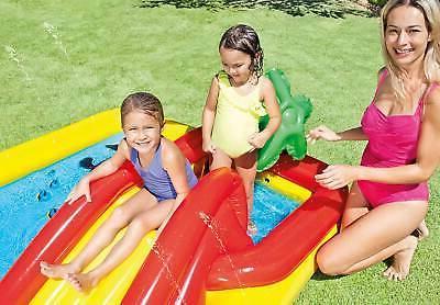 "Intex 100"" x 77"" Inflatable Kids Backyard Pool & Games"