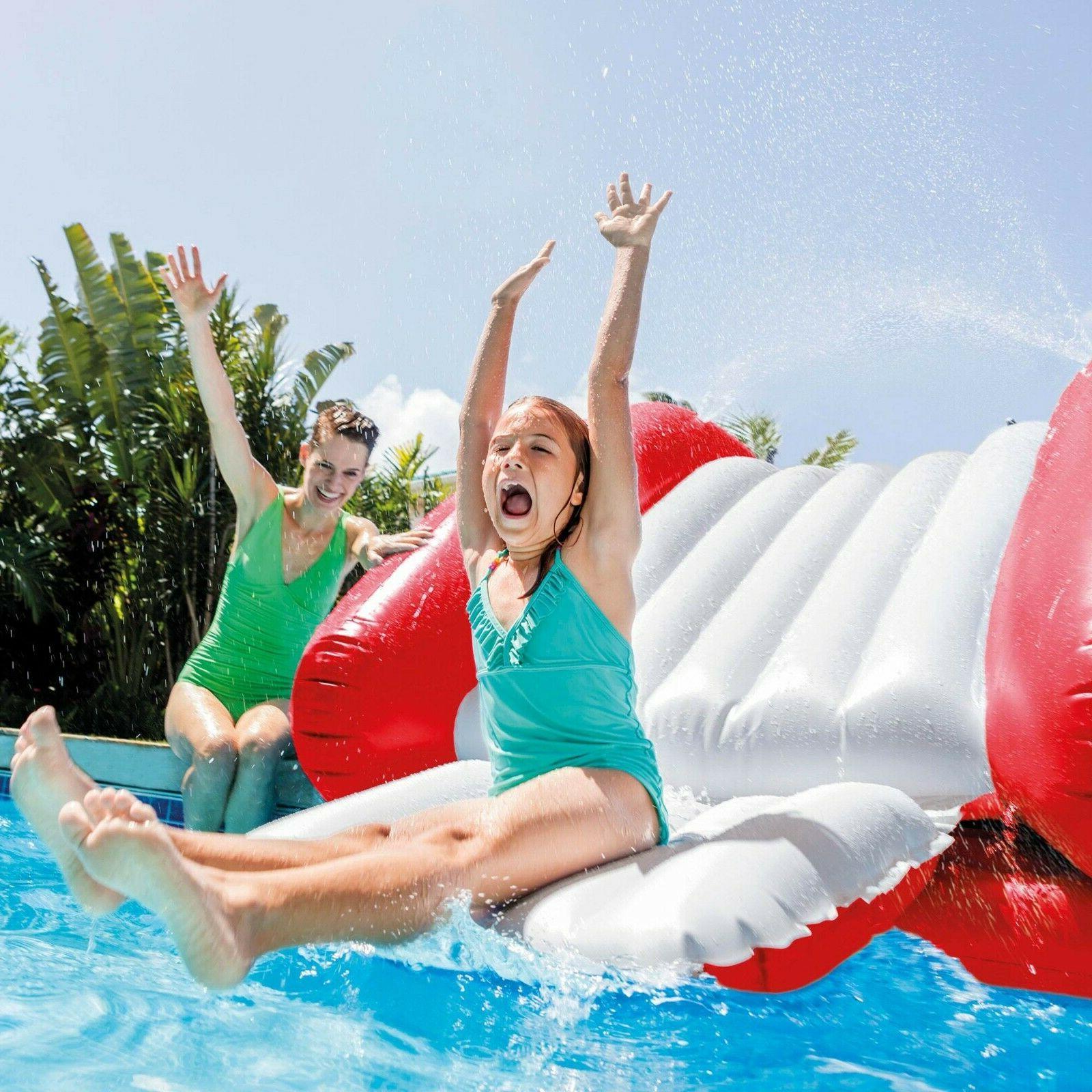 "Intex 131"" x x 46"" Splash Inflatable Pool w/"