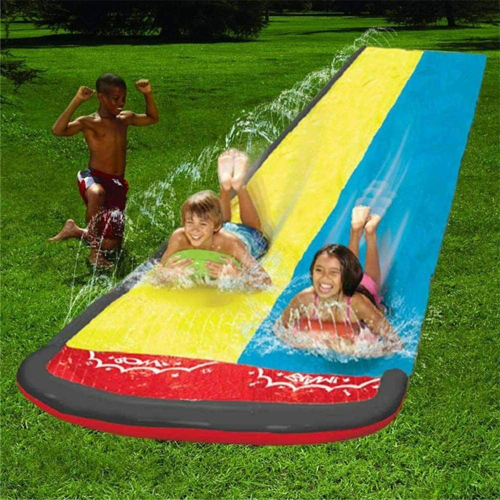 15.7 Lawn Water Slides, Slip Slide Play Center with and Infl