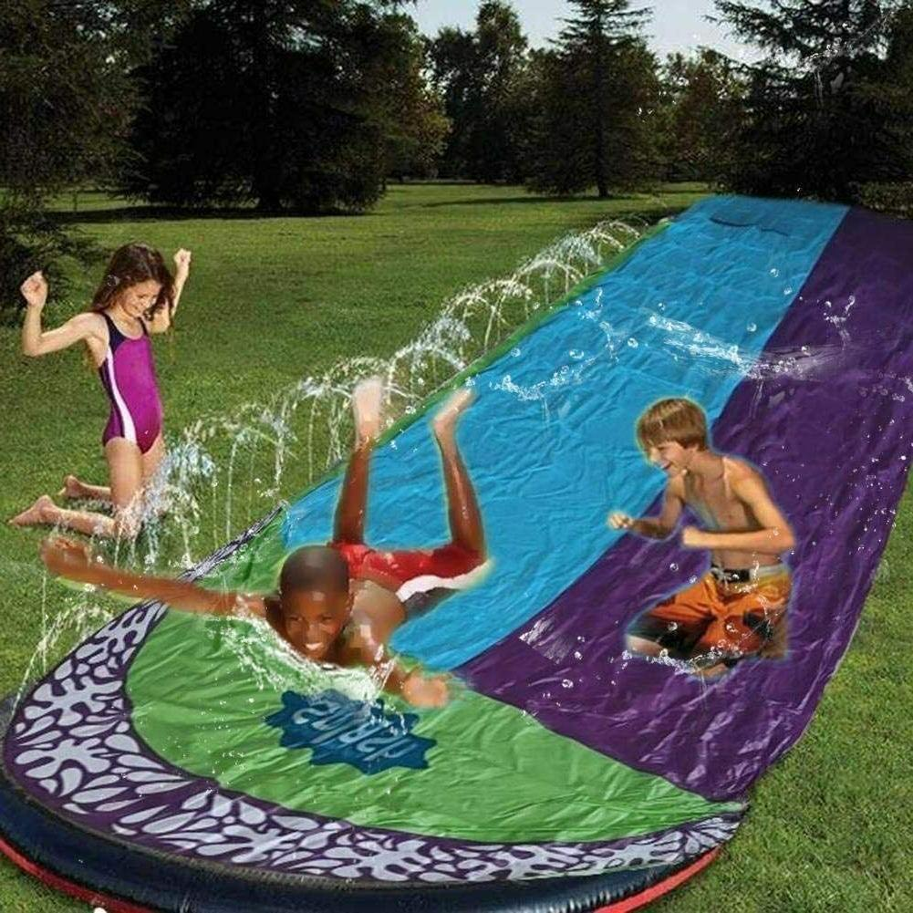 15Ft inflatable, Double Lawn slide Slides Surf