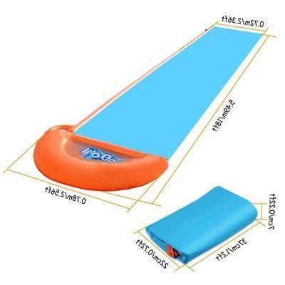 5.5m Kids Inflatable Single Water Slide Summer Water Splash