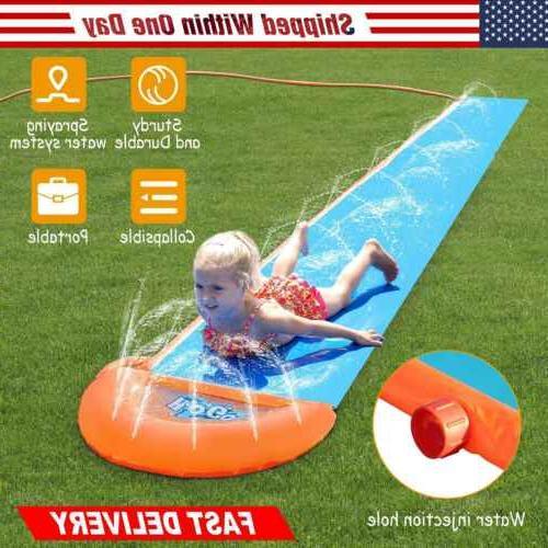 18ft inflatable water slide single slip kids