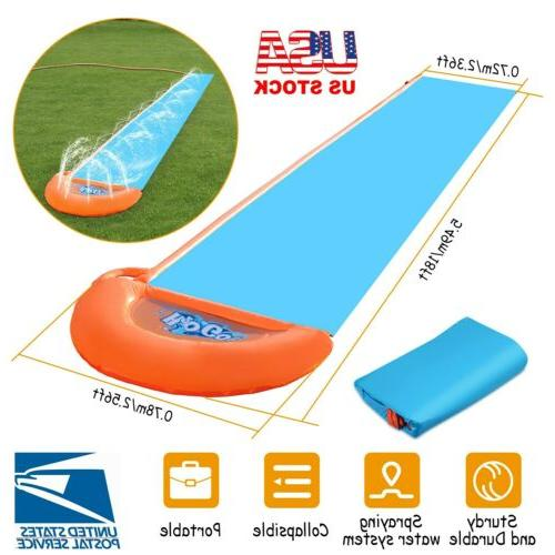 18ft kids inflatable water slide single slip