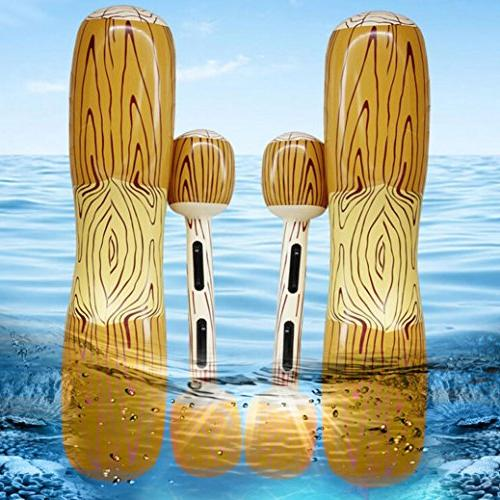 Transer 2 Set Ring Wood with Water Swimming Pool Pool Floats Lifebuoy