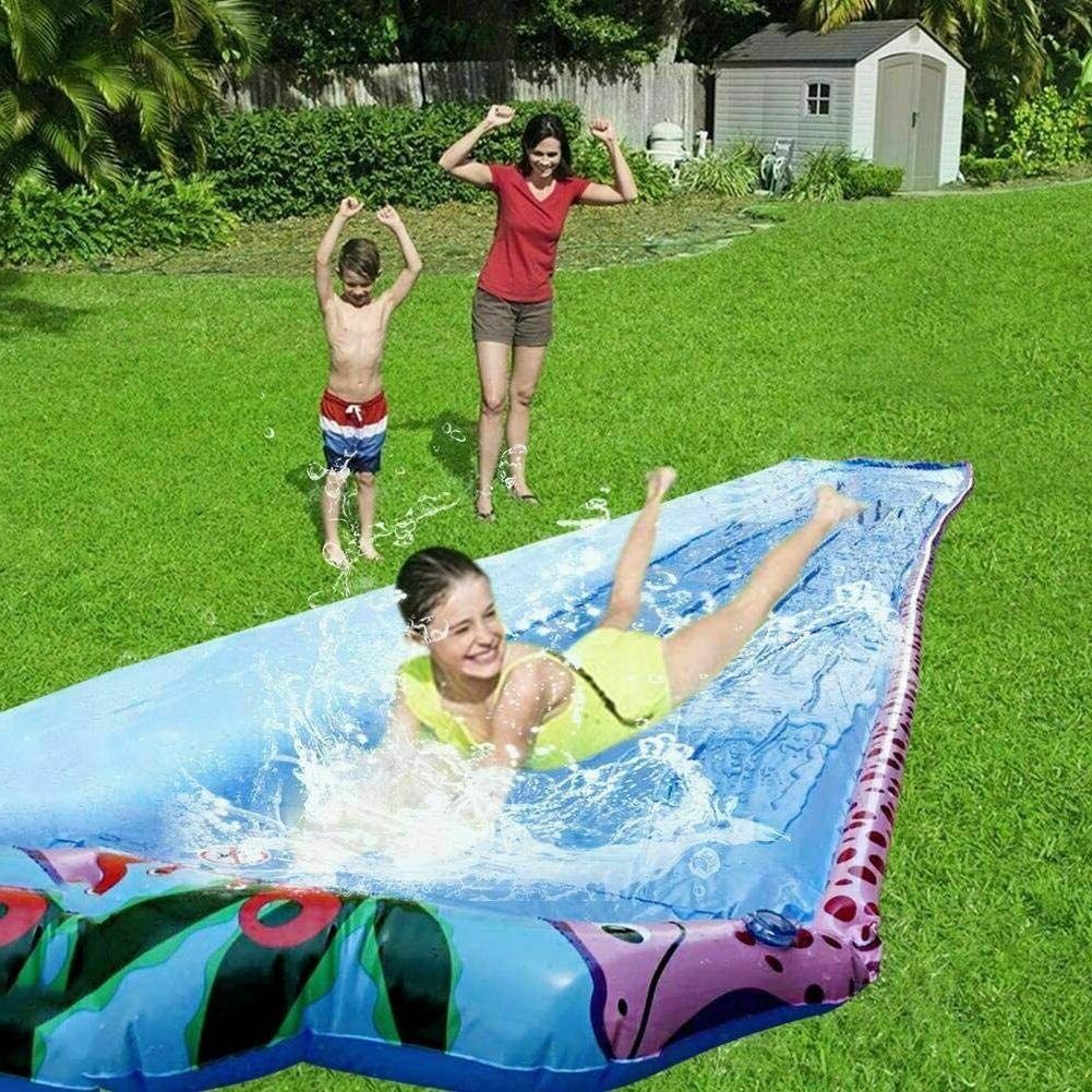 20ft water slip and slide with sprinkler