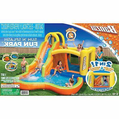 Banzai 28007 Sun Splash Inflatable Slide Park