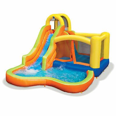 Banzai Sun Splash Fun Kids Inflatable Bounce House & Slide Park