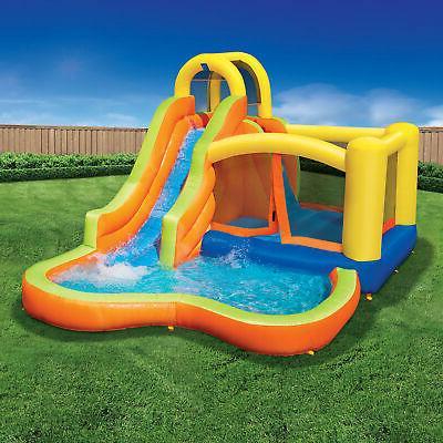 Banzai 28007 Splash Fun Kids Bounce House Slide Park