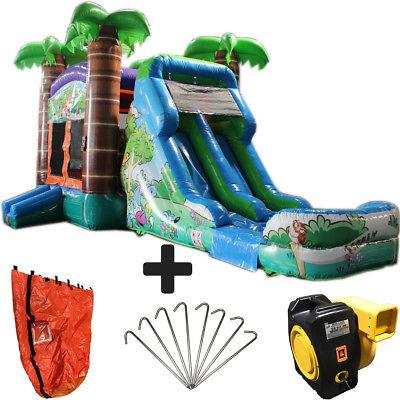 28ft crazy tropical wet dry commercial inflatable