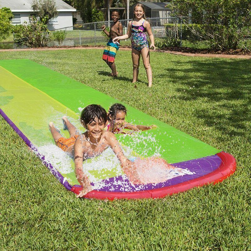 4.8m Giant Double Water Slide For Kids