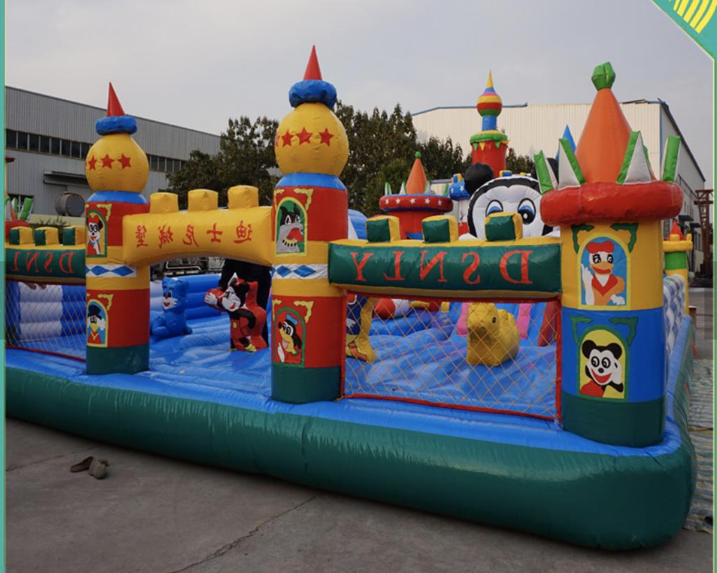 40x30x15 Commercial Slide Bounce House Obstacle Course Combo