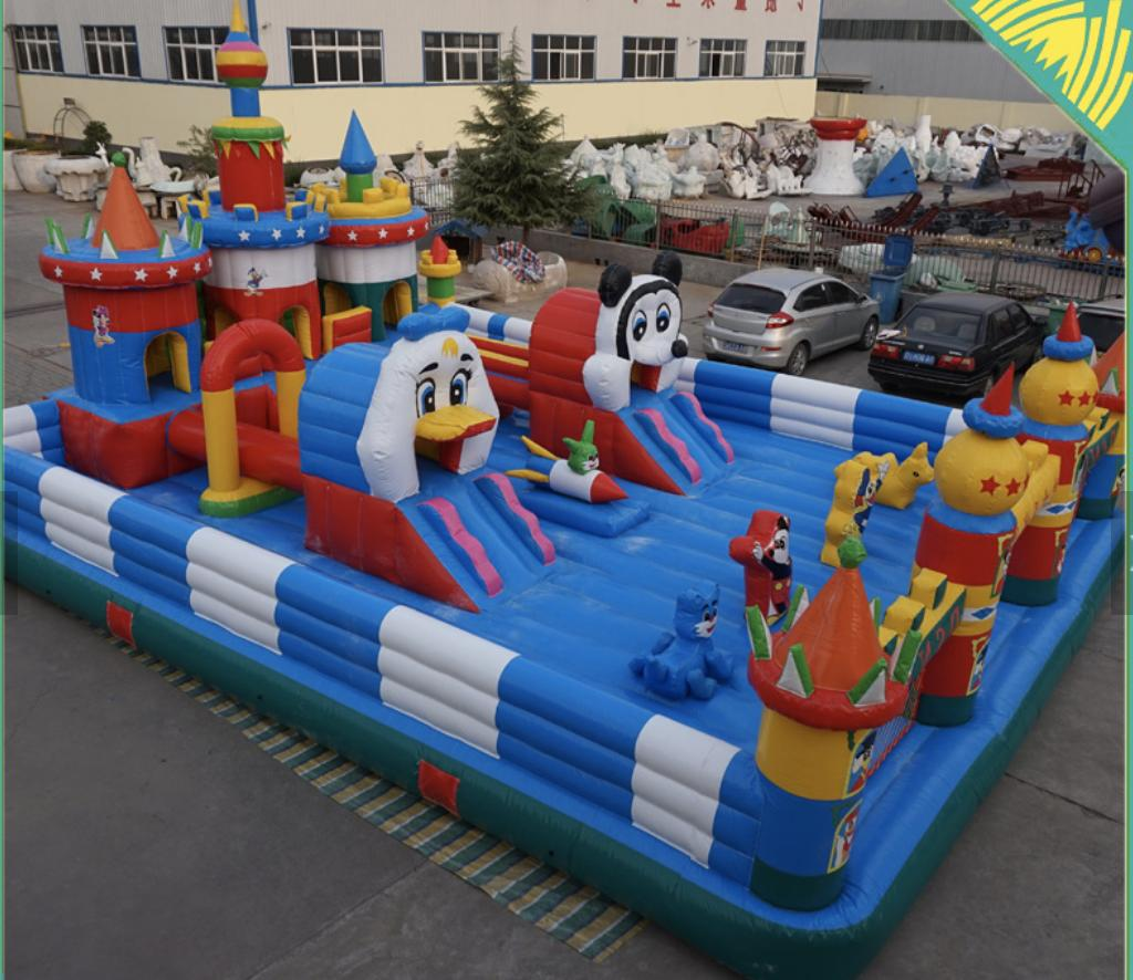 40x30x15 Commercial Water Slide Bounce House Course Combo