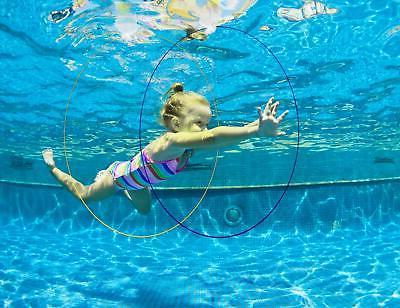 5 packs pool toys swim thru rings