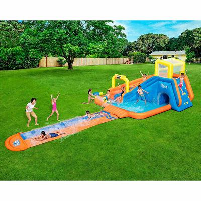 Bestway H2OGO! Splashtona Kids Inflatable Backyard Water Park with Slide