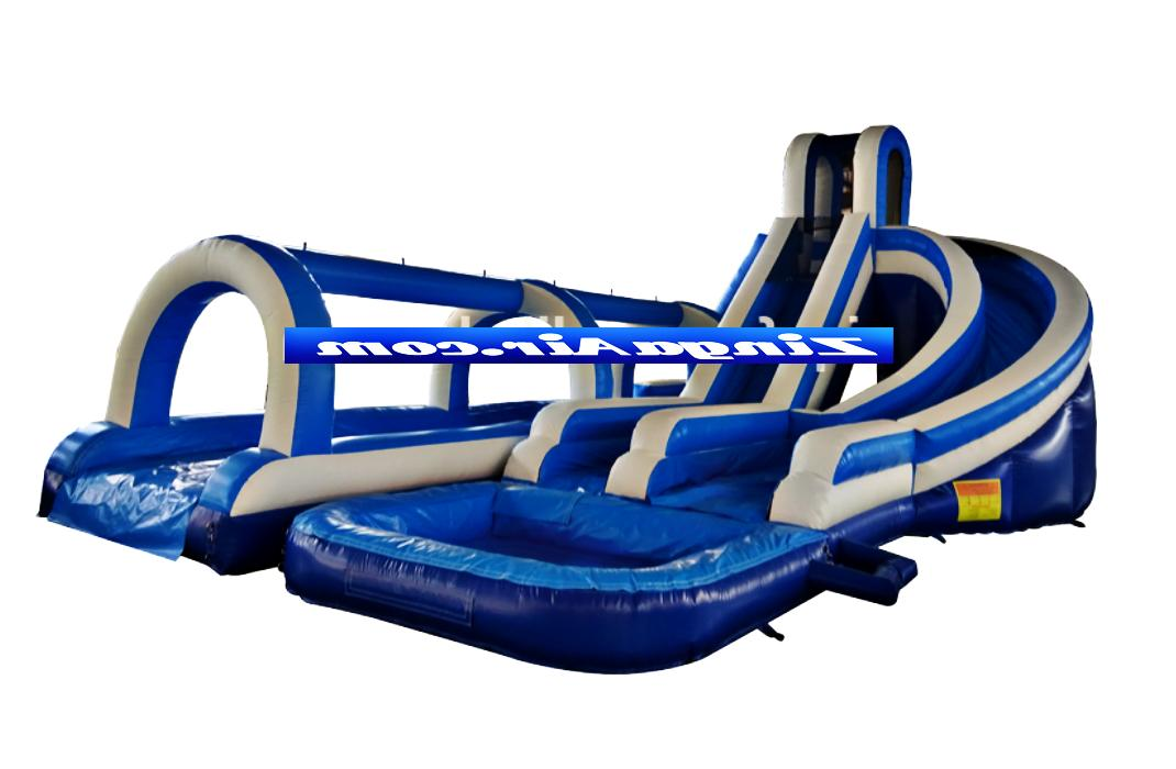55x30x30 commercial inflatable big water slide house