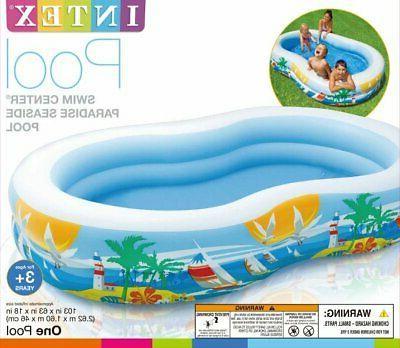 Intex x 18in Swim Center Paradise Seaside Inflatable Pool