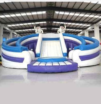 99x50x30 Castle Jumping Inflatable Water Trampoline