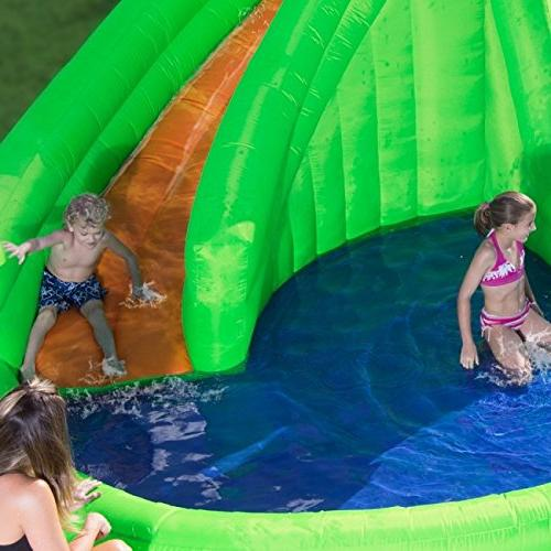 Blast Crocodile Inflatable Dual Slides