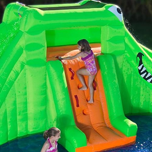 Blast Zone Crocodile Isle Inflatable Dual Slides